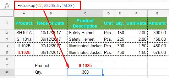 vlookup error when case sensitive