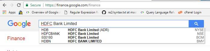 Google Finance: Find Ticker Symbol for formula