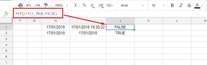 Why to Extract Date From Time Stamp in Google Sheets