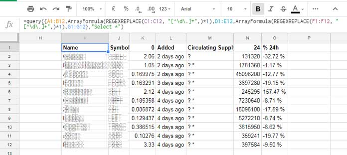 formula result showing currency text to number in google sheets