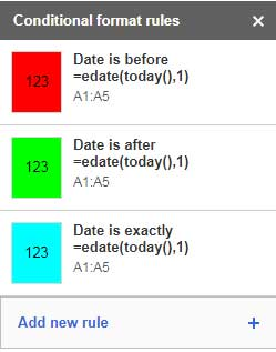 Expiry Date Based Conditional Formatting rules