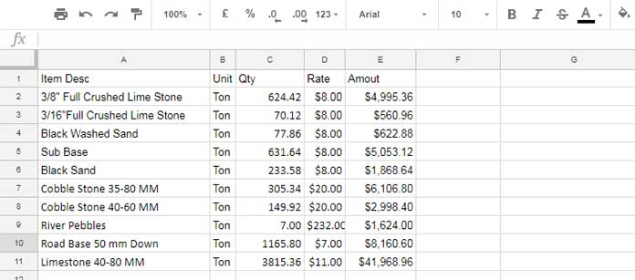 Sample Data - Extract N Number of Items in Google Sheets