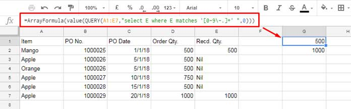 Use of Google Sheets Query to convert text formatted numbers back to number