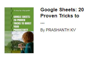 Ebook for Google Sheets Tips and Tricks