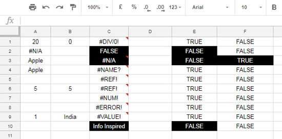 How to Use ISNA Function in Google Sheets