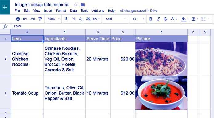 How to Use Image Function in Google Sheets
