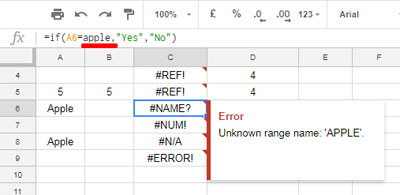#NAME Error in Google Sheets and How to Correct It