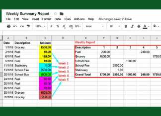 How to Create A Weekly Summary Report in Google Sheets
