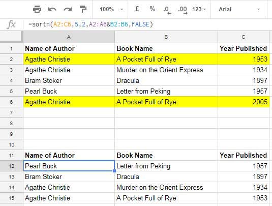Remove Duplicates Based on First Two Columns in Google Sheets