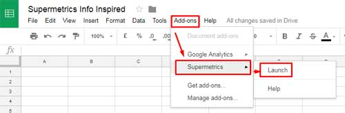 Connect Google Analytics to Google Sheets - 1
