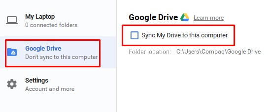 Remove google drive syncing