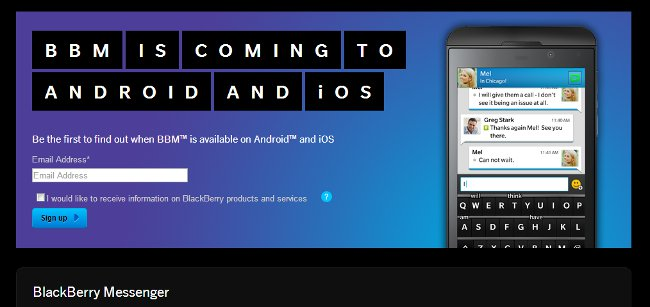 BlackBerry BBM Chat App Coming to Android and iPhone