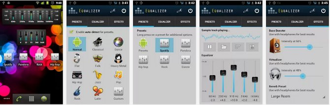 Free Android Graphic Equalizer for Your Any Android Media Player