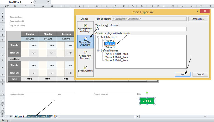 How to Create a Clickable Next Button in Microsoft Excel