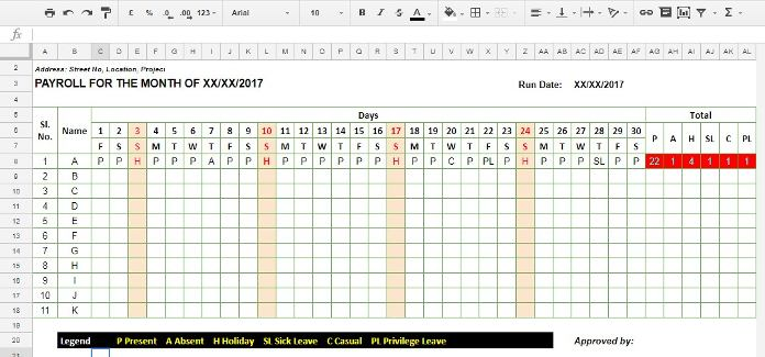 How To Create A Staff Attendance Sheet Using Google Sheets