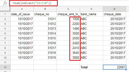 Google Sheets Indirect Function Examples and Usage