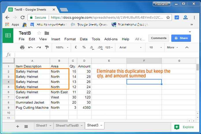 Find and Eliminate Duplicates Using Query Formula in Google