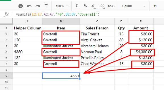 SUMIF Excluding Hidden Rows in Google Sheets [Without Helper