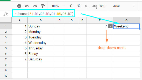 how to make drop down menu in google sheets