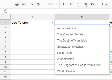 how to delete drop down list on google