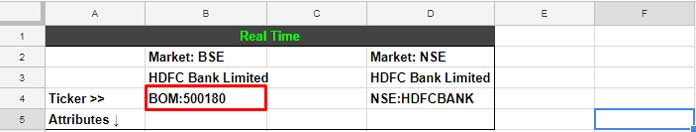 How to Get BSE, NSE Real Time Stock Prices in Google Doc Spreadsheet