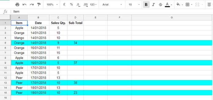 Google Sheets: Highlight Rows When Value Changes in Any Column