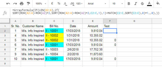 Google Sheets: Find All Duplicates in a Column and Delete