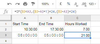 Convert Time Duration to Day, Hour, Minute in Google Sheets