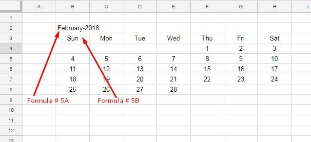 Year Calendar Google Sheets : Free google sheets calendar template download and how to