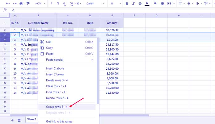 How To Group Rows And Columns In Google Sheets - Google docs columns