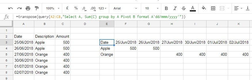 How To Format Query Pivot Header Row In Google Sheets