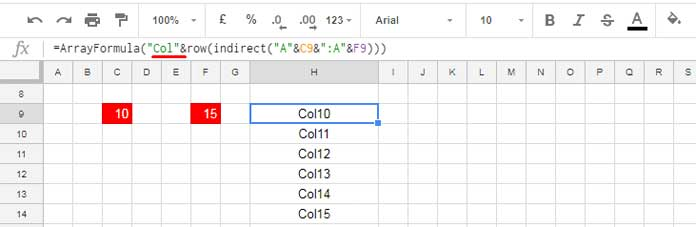 Dynamic Column Reference in Google Sheets Query [Example