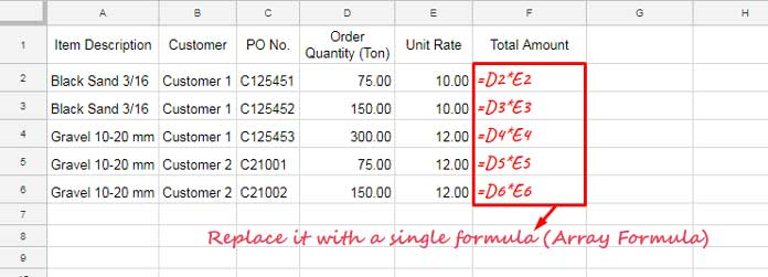 Array Formula: How It Differs in Google Sheets and Excel