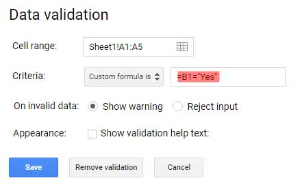 Data Validation Examples in Google Sheets - All That You