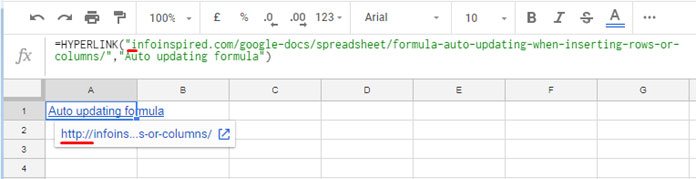 How To Label Url In Google Sheets Using Hyperlink Function