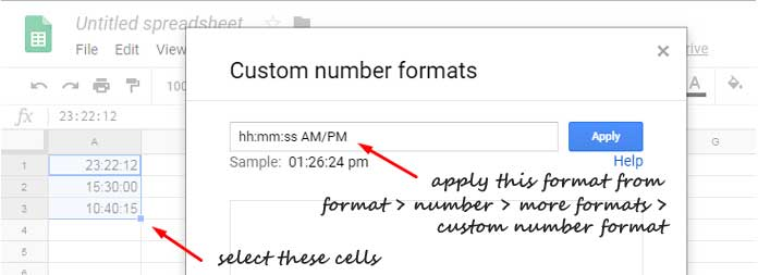 Convert Military Time in Google Sheets [Formula and Formatting]