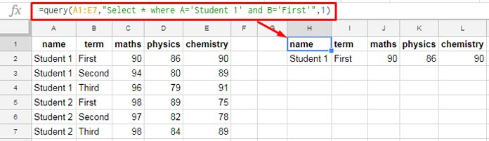 And Or And Not In Google Sheets Query How To