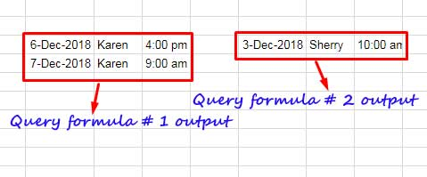 How to Combine Two Query Results in Google Sheets