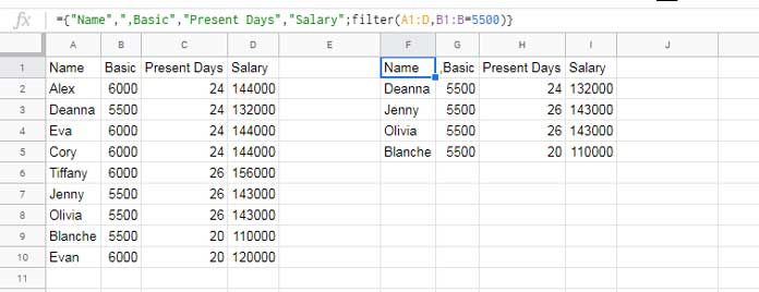 Add Field Label to Array Formula Result in Google Sheets